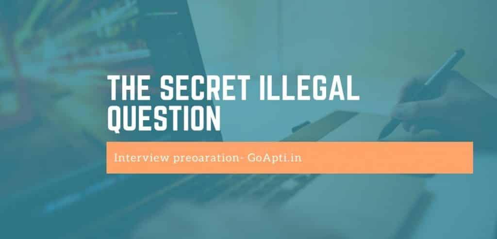 the secret illegal question
