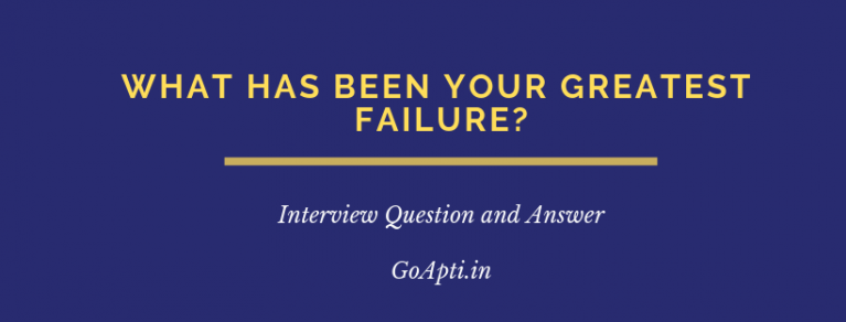 What has been your greatest failure
